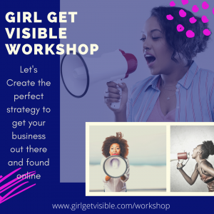 girl get visible SEO and content marketing workshop
